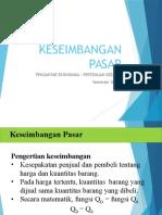 Presentation - 4 (Keseimbangan Pasar)