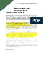 Propaganda Sin Partidos. de La Propaganda de Mecado Al Mercantilismo Politico
