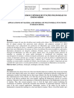 Aplicações de Máximos e Mínimos de Funções Polinomiais No Ensino Médio