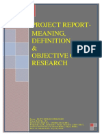 Meaning, Definition and Objective of Research