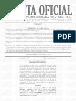 Gaceta Oficial Extraordinaria No. 6.284