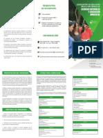 Plegable Licenciatura en Educación Básica con Énfasis en Ciencias Naturales y Educación Ambiental