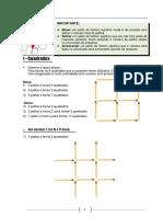 Figuras Com Palitos e Desafios de Matemáticas
