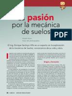 LA PASION POR LA MECANICA DE SUELOS