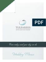 Tulfarris Hotel & Golf Resort Wedding Menus