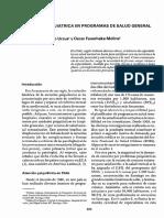Florenzano, R. y Feuerhake, O. (1981) Atención Psiquiátrica en Programas de Salud General. Bol of Sanit Panam