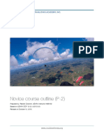 P 2 Novice Paragliding Course Syllabus