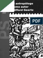 Clifford Geertz - El Antropólogo Como Autor