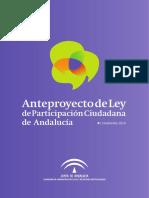 Anteproyecto de ley de Participación Ciudadana de Andalucía