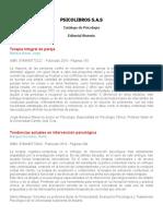Catálogo Psicología Ed Sintesis 2016