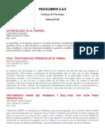Catálogo Psicología Ed EOS 2016
