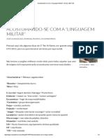 Acostumando-se Com a _linguagem Militar_ _ Rumo à EsFCEx