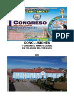 Conclusiones Generales I Congreso Bolivariano