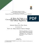 A Reta de Euler e a Circunferencia Dos Noves Pontos - Um Olhar Algebrico.