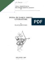 India in Early Greek Literature [Klaus Karttunen]