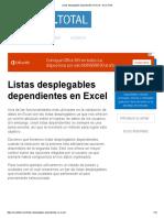 Listas desplegables dependientes en Excel - Excel Total.pdf