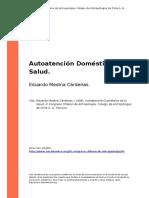 Medina 1998_Autoatencion Domestica de La Salud