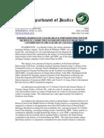 DoJ Press Release (Farkas Indicted)