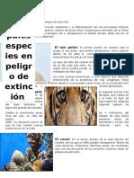 Las 10 Principales Especies en Peligro de Extinción