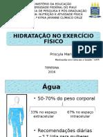 Aula Hidratação no Exercício Físico 2016.2