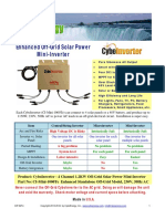 CyboInverter CI Mini 1000Te Spec Sheet Rev 2.5 Jan 2016