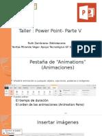 Taller- Power Point -Parte V