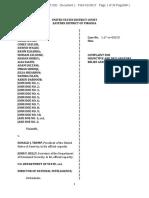 Suit filed in Virginia vs. President Trump