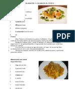 Espaguetis de Calabacín y Calabaza Al Pesto