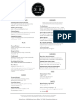 Chelsea Corner Dallas Food Menu PDF