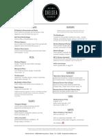 Chelsea Corner Dallas Food Menu PDF