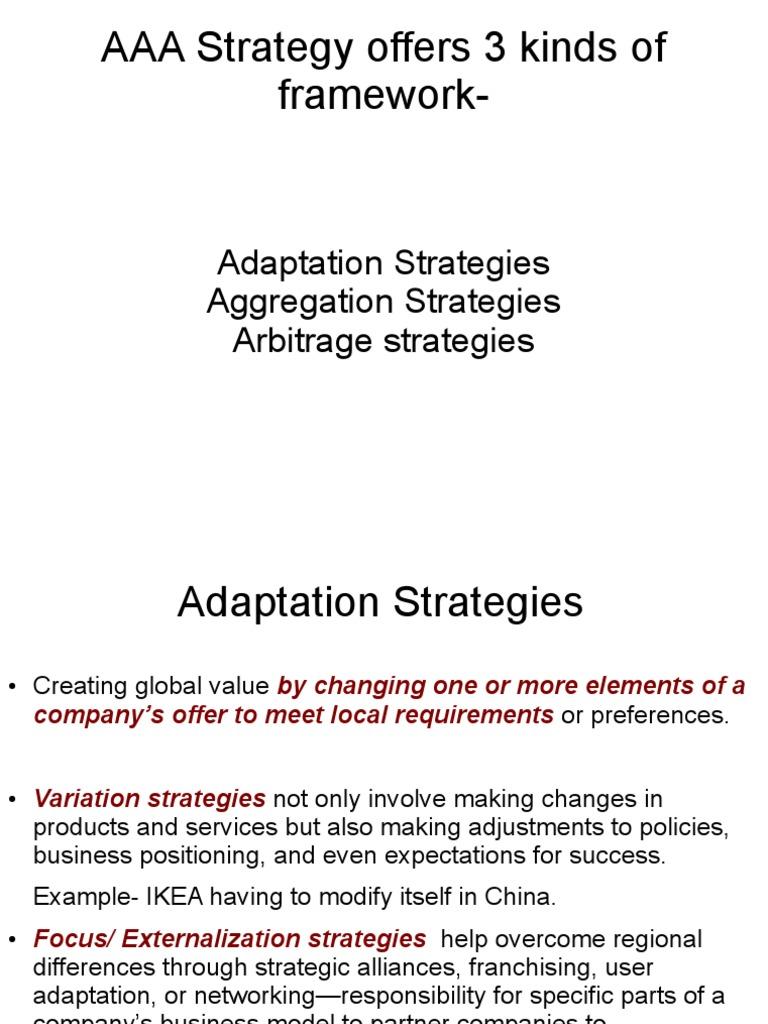 Aaa Strategy Arbitrage Strategic Management