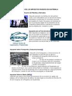 Clasificación de Los Impuestos Pagados en Guatemala