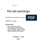 Rol Del Psicólogo