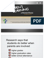 Student Learning a Parent Focus