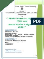 Public Interest Litigation and Social Interest Litigation