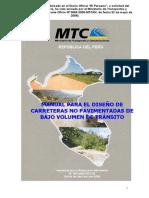 Manual de Carreteras No Pavimentadas de Bajo Volumen de Transito