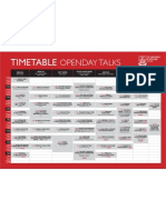 University of Adelaide Open Day 2010 Timetable