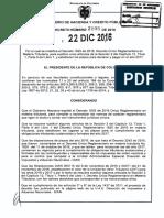 Decreto 2105 Del 22 de Diciembre de 2016