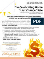 Celebrating Home Last Chance Summer Sale and Party