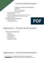Influencia de La Organización - Ciclo de Vida Del Proyecto