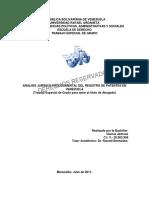 Analisis juridico procedimental del registro de patentes en Venezuela