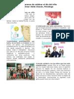 Cinco Maneras de Celebrar El Día Del Niño