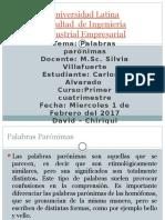 Palabras Paronimas Power Point Univerisad latina