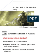 Use of European Standars in the Australian