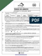 Prova 8 - Técnico de Arquivo - Gabarito 2 - Amarela