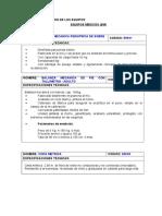 Especificaciones Tecnicas de Equipos
