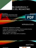 tumores mediastino, y anatomia quirurgica