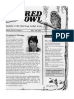 June-July 2003 Barred Owl Newsletters Baton Rouge Audubon Society