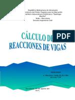 Cálculo de Reacciones de Vigas