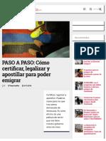 PASO a PASO Cómo Certificar, Legalizar y Apostillar Para Poder Emigrar